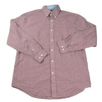 Nautica Button Up Shirt Adult 15.5 32/33 Red Checkered 100% Cotton Mens