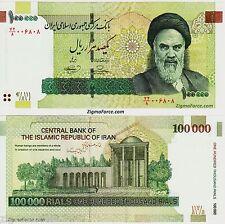 Iran 100000 Rials = 10000 Toman P-151 P151 UNC Persian Banknote Signature 36
