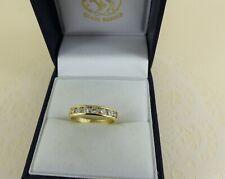 18ct 18carat Yellow Gold Diamond Eternity Ring, 0.35ct Size J