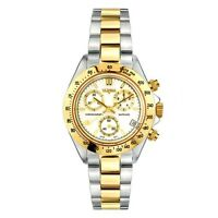 Vetania Grand Prix Swiss Quartz Chrono Men's Two-tone Stainless Steel Watch
