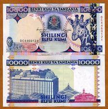 Tanzania 10,000 (10000) 1997, P-33, UNC > Giraffe