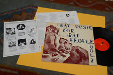 RAT MUSIC FOR RAT PEOPLE LP ORIG USA 1984 CON INSERTO EX+ TOP AUDIOFILI