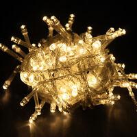 100 LEDs Warmweiß Lichterkette Weihnachten Party Innen Beleuchtung Leuchte HOT