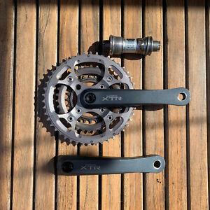 Shimano XTR M952 175mm Cranks Crankset w/ Bottom Bracket Crankset Mountain Bike