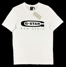 Men's G-STAR G RAW White Crew Neck Logo SLIM T-Shirt Tee Shirt S Small NWT NEW