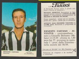 FIGURINA CALCIATORI ALBUM FIDASS 1967-68  JUVENTUS CASTANO