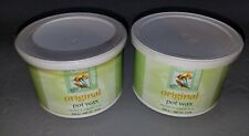 (2) Clean N and Eazy  ORIGINAL Hair Removal Pot Wax 14oz Salon Spa Aesthetician