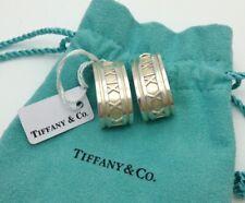 Tiffany & Co Sterling Silver Atlas Huggie Clip-on Earrings