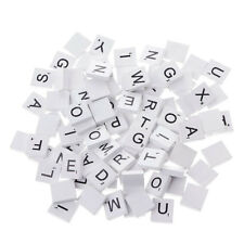 100 Wooden Alphabets Scrabble Tiles Black Letters Numbers Craft Wood Toy Popular