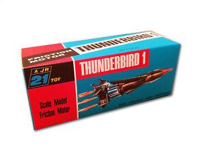 J. Rosenthal JR21 Thunderbird 1 Friction Vehicle Repro Box