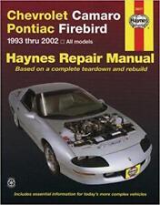 Haynes CHEVROLET CAMARO (94-02) ZL1 RS Z28 Owners Service Repair Manual Handbook