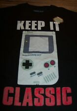 "Nintendo ORIGINAL GAME BOY ""Keep It Classic"" T-Shirt MEDIUM NEW"