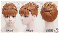 new design Frozen Snow Anna Style Coronation Cosplay Wig bun cos wig Hair
