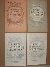 Boston Symphony Orchestra - Vintage 1958-1962 Program Booklets Lot (4)