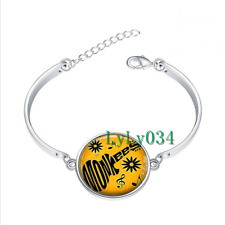 Musicians Monkees glass cabochon Tibet silver bangle bracelets Fashion