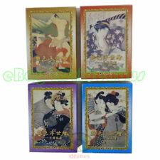Big Jumbo Sized SET 4 Decks Playing card/Poker Japan UKiyoe Erotica Art Painting