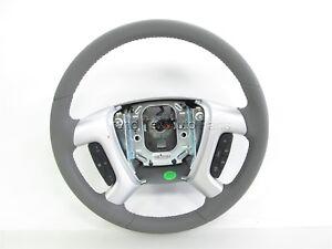 NEW OEM GM Titanium Leather Steering Wheel w/ Controls 23105345 GMC Acadia 13-16