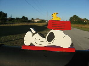 "NEW Snoopy & Woodstock ""Waiting for Dinner"" Mailbox Topper Handmade"