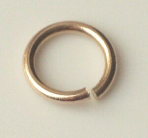 9ct Yellow Gold Jump Ring Yellow Open Light & Heavy 3mm 4mm 5mm 6mm 7mm 8mm