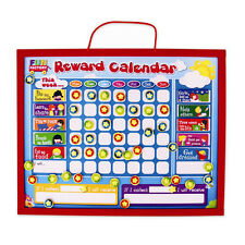 Kids Wooden Magnetic Reward Star Chart 52pcs Red Parenting Tool Wall Hanging