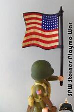 EEUU BANDERA ESTADOS UNIDOS USA FLAG WW2 GUERRA MUNDIAL PLAYMOBIL SOLDADO NO INC