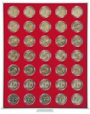 LINDNER Münzbox 2530 Standard für 2 Euro Münzen in Kapseln
