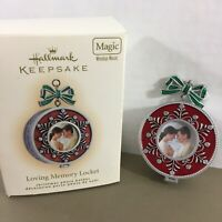 Hallmark Keepsake Loving Memory Locket Christmas Ornament Magic Windup Music
