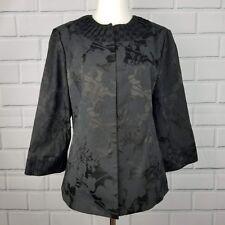 CHICOS Womens Origami Opulence 3/4 Sleeve Blazer Floral Kimono Jacket Sz 1/S NWT