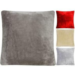 4 x Cushion Covers Faux Fur Raschel Mink Soft & Cuddly Warm & Cosy Double Sided