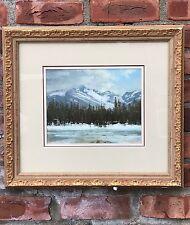 "Lorenzo Chavez Pastel Mountain Landscape Painting. ""Spring Storm"". Signed"