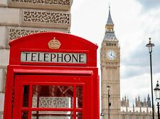 RED PHONEBOX BIG BEN LONDON PHOTO ART PRINT POSTER PICTURE BMP2073A