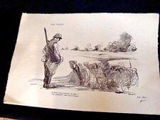 gravure estampe sur la guerre 14-18 par Jean-Louis Forain