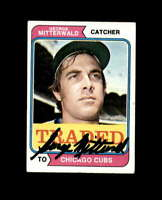 George Mitterwald Signed 1974 Topps Chicago Cubs Autograph