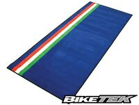 BIKETEK ITALIAN FLAG BLUE GREEN RED WHITE WORKSHOP GARAGE PIT MAT 190x80cm