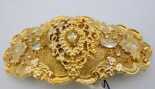Vtg Accsssocraft Ornate Gold Tone Rhinestone Buckle