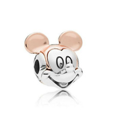 NEW Silver Rose Gold Mickey European Charm Pendant Beads Fit Necklace Bracelet !