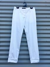 Peachoo And Krejberg White Cotton Trouser Classic Cut Size FR 38