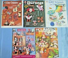 Lot of 6 Design Originals Clay Crafting Booklets: Pasta Machine*People*Animals*