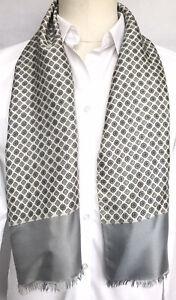Mens Vintage SILK Scarf Patterned Retro Cravat Necktie 60's 70's Paisley Gents