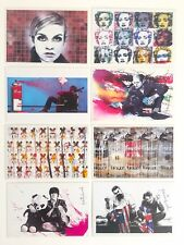 MR. BRAINWASH RARE ORIGINAL POP ART EXHIBITION EVENT POSTCARD PRINTS - SET OF 8