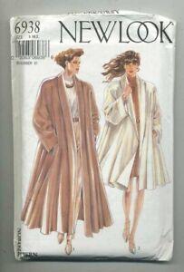 Uncut New Look Pattern # 6938 Misses'  Coat Size  (8-18)