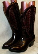 Rebelde Fire Bird Stitched Cowboy Riding Boots Leather Soles US. Men`s 8 Mex 27