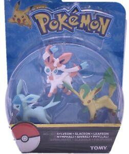 Pokemon Battle Figure Set Glaceon-sylveon-leafeon