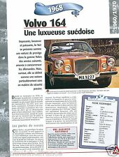 Volvo 164 Berline 6 Cyl. Berline 1968 Sweden Suede Car Auto Retro FICHE FRANCE