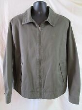 TIMBERLAND STRATHAM ISSUE ZIP UP JACKET GREEN NYLON LINED  MEN L QUICK SHIPPER