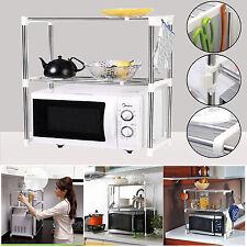 2 livello Multifunctiona FORNO A MICROONDE Storage Rack Cucina Ripiano Regolabile Stand