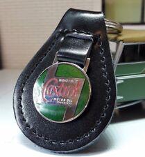 Land Rover Serie 1 2 2a 3 Zeit Castrol Öl Qualität Schwarz Leder Schlüssel Ring