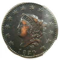 1820/19 Coronet Matron Large Cent 1C - Certified PCGS XF Details - Rare Variety