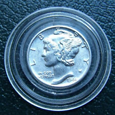 FSB GEM Coin 1944 D  Silver Mercury Dime FSB NICE Full Split Bands W New Holder.