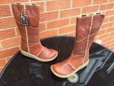 Dr Martens New Auth. brown tan calf length leather 10491 boots UK 3 EU 36